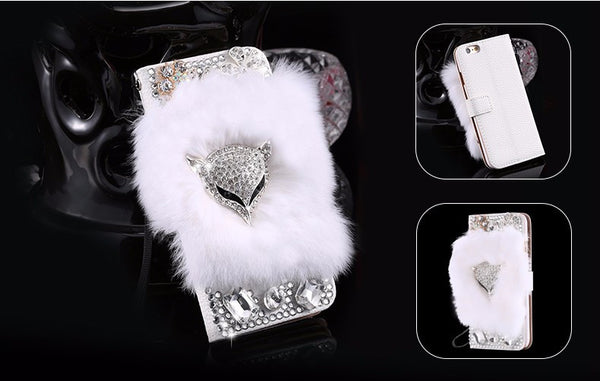 Faux Fur Diamond Fox Bling iPhone Case Bling - High Maintenance Bitch