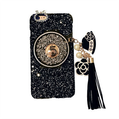 Hot! New 2017 Style Ladie's 3D Diamond Bling Glitter & Stars Tassel Chain Cell case Bling - High Maintenance Bitch