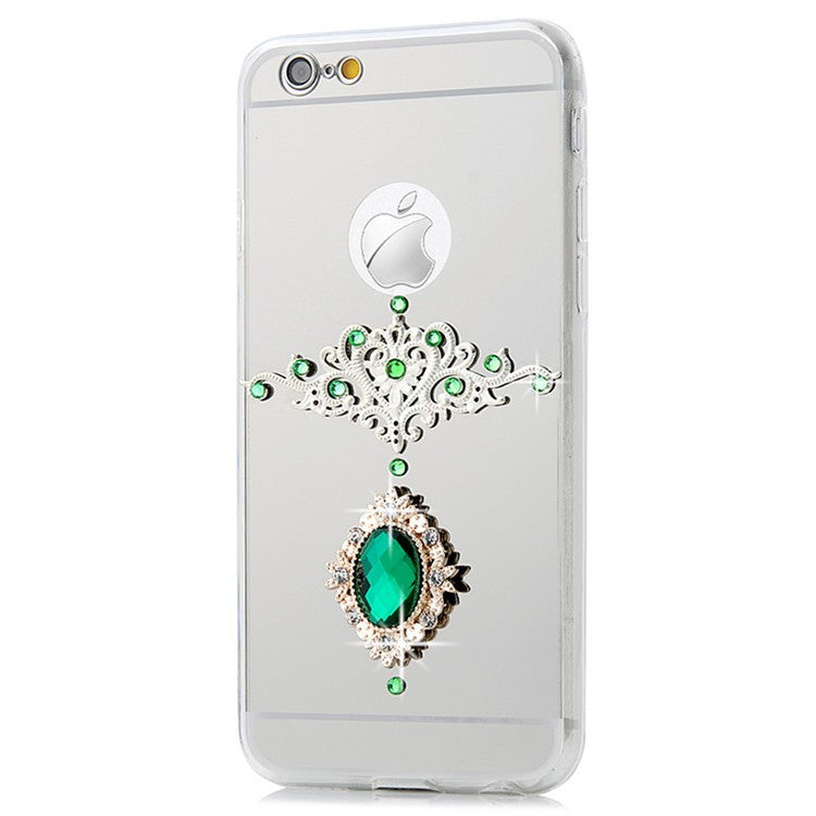 Luxury Vintage Gemstone Bling Crystal Mirror Phone Case Bling - High Maintenance Bitch