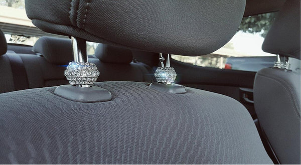 Chrome Ice Diamond Rhinestone Bling Headrest Collars (4pc set)