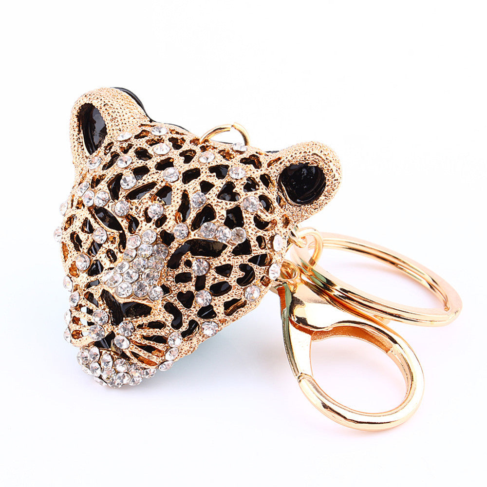 Leopard Rhinestone Purse Charm/ key Chain Bling - High Maintenance Bitch