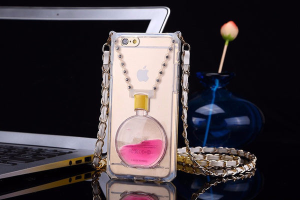 Transparent Perfume Bottle with Colored Liquid and Kickstand Bling - High Maintenance Bitch