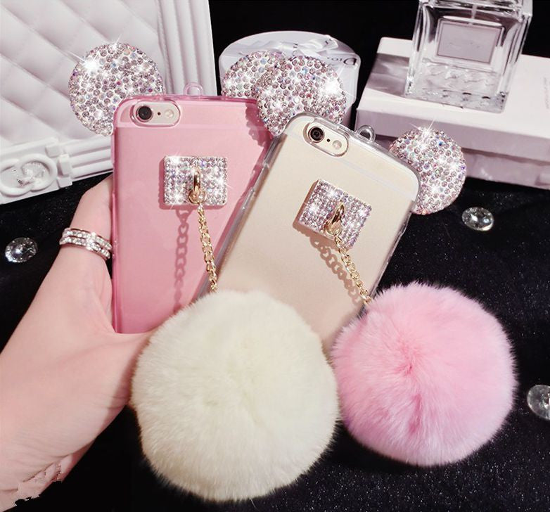 Fun Loving Hi-Q Bling  Rhinestone Mouse Ears Soft TPU Case Bling - High Maintenance Bitch
