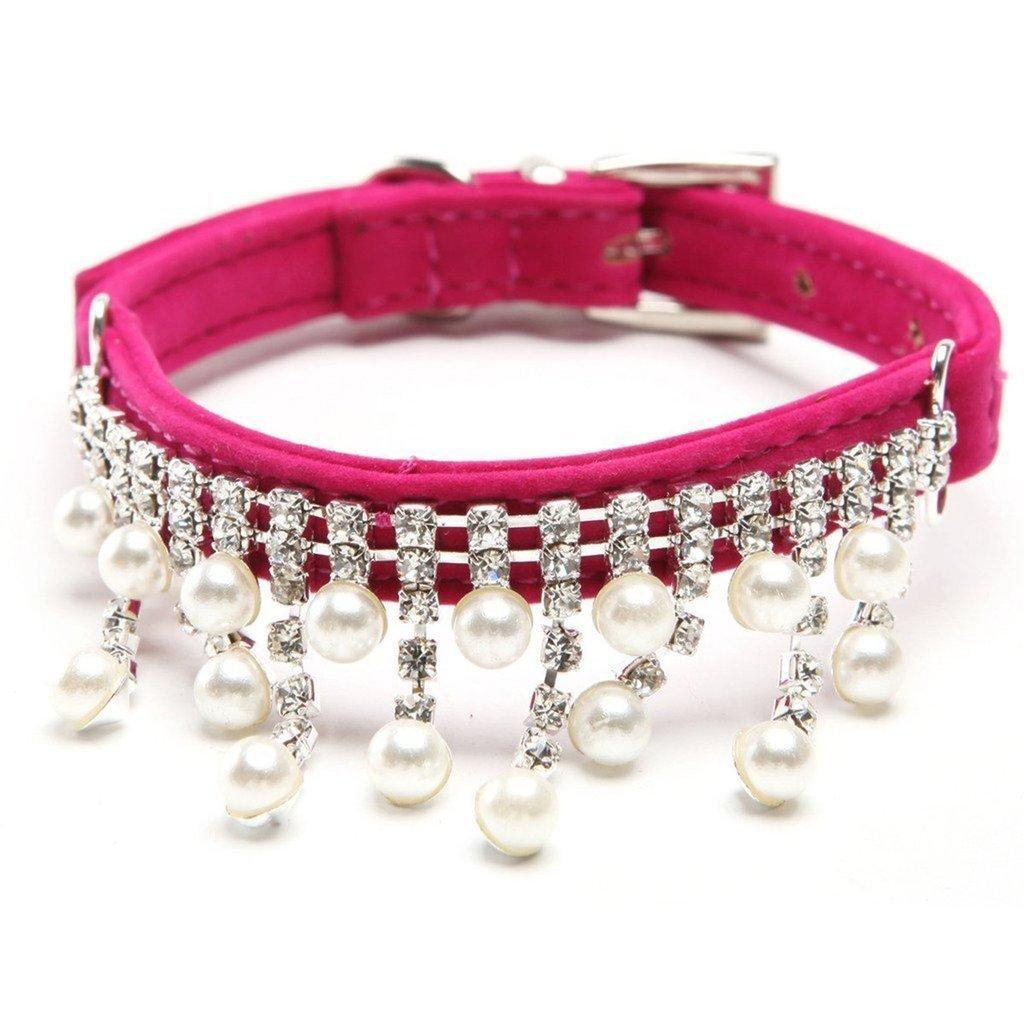 Pearl & Crystal Diamond Bling Pet Collars