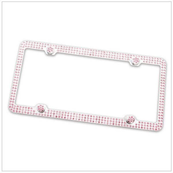 Pink Bling Licence Plate Holder Bling - High Maintenance Bitch