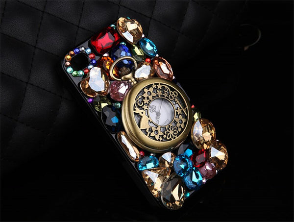 Hot!Retro Rhinestone Luxury Crystal Diamond Pocket Watch Case Bling - High Maintenance Bitch