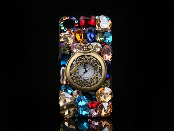 Hot!Retro Rhinestone Luxury Crystal Diamond Pocket Watch Case - High Maintenance Bitch