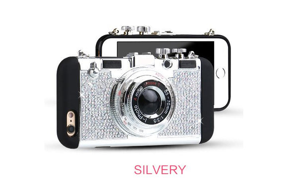 Bling Retro Camera Cell Phone Case Bling - High Maintenance Bitch