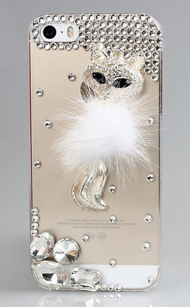 Crystal Diamond Small Fox Bling Cell Case Bling - High Maintenance Bitch
