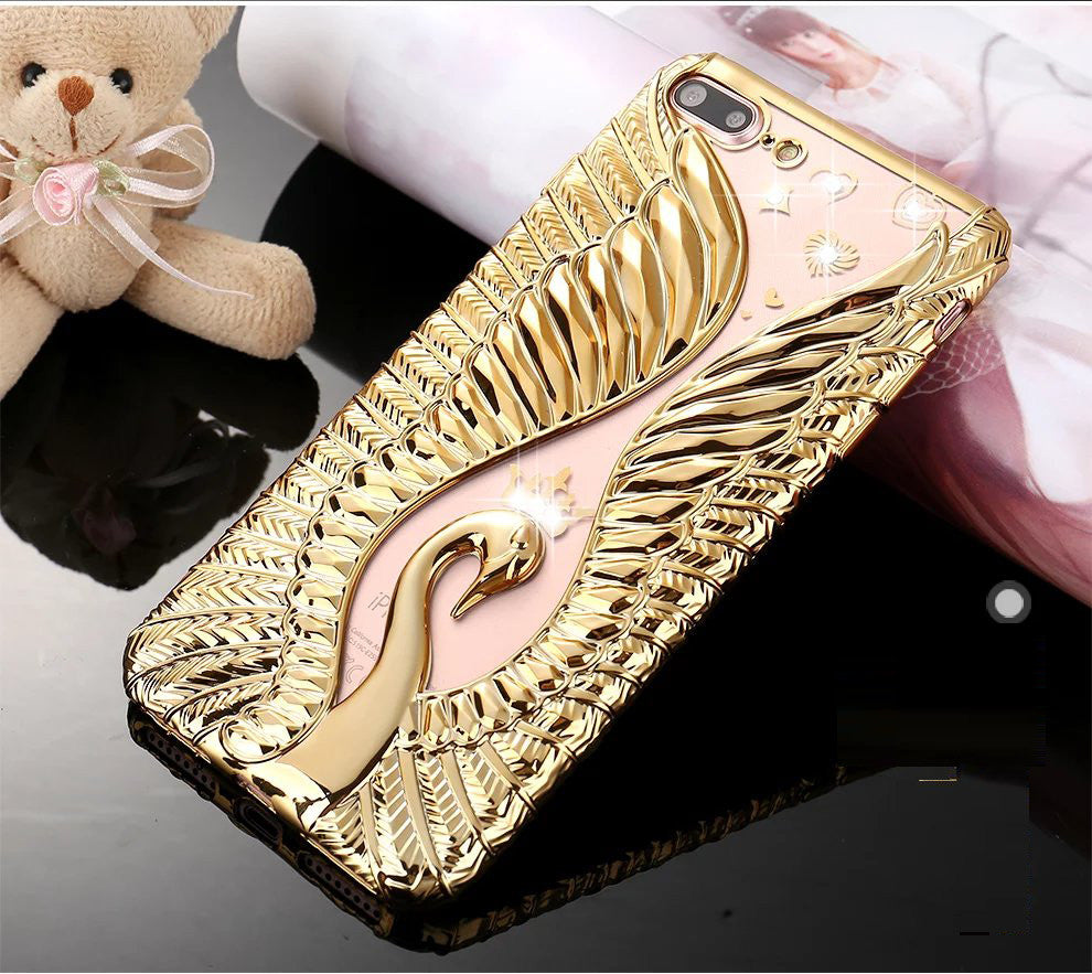 Beautiful Bling Crown Swan Soft Cell Case Bling - High Maintenance Bitch