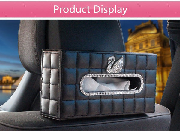 HMB Crystal Car Tissue Box Holder (Swan or Crown) Decoration Bling - High Maintenance Bitch