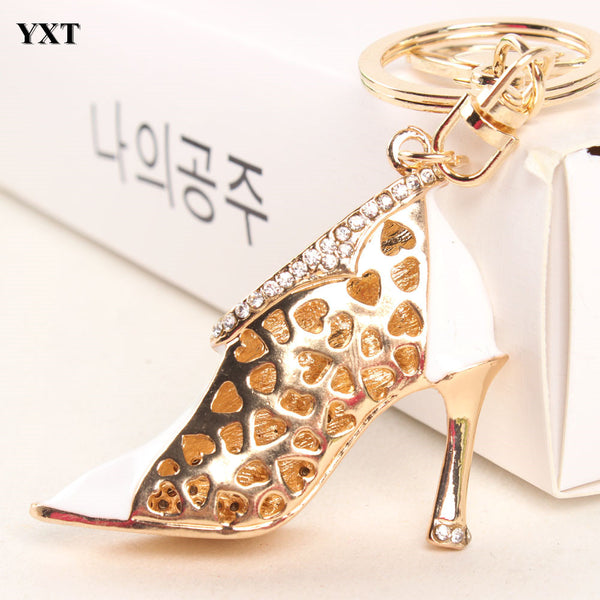 White High-heeled Shoe Purse Charm/Key Chain