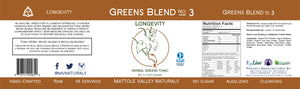 Greens Blend - Longevity - Wholesale