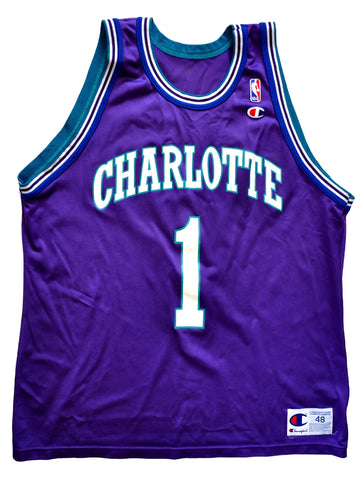 Mugsy Bogues Charlotte Hornets Replica Jersey - 48/XL