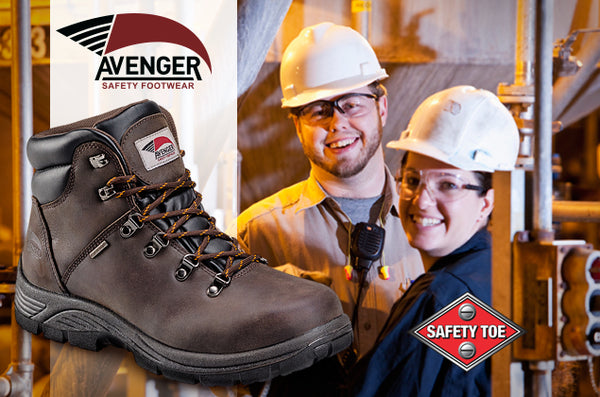 Avenger safety toe workboot in the workplace