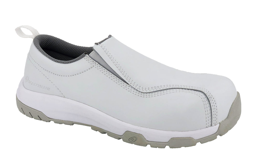 N1607 - Advanced SD10 Composite Toe Security Friendly White Clean Room Slip On