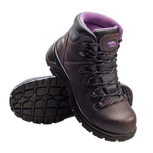 "6"" Women's Leather Comp Toe Waterproof Puncture Resistant EH Hiker"
