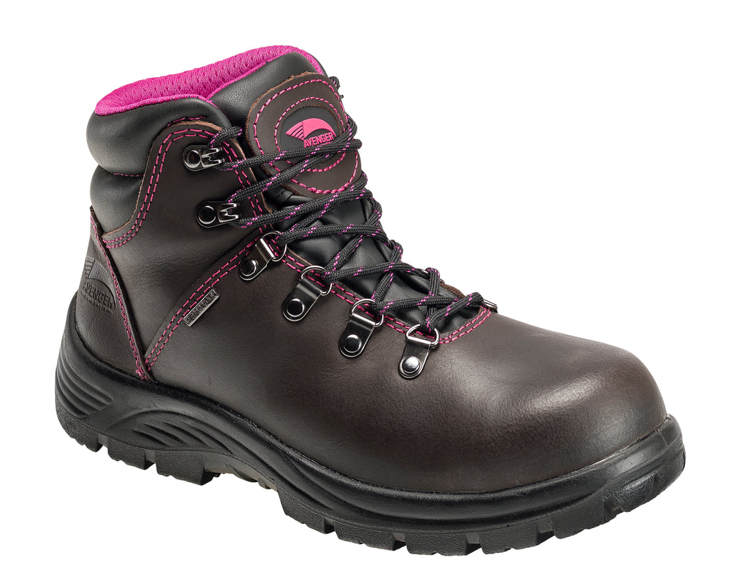 Women's Framer Brown Steel Toe EH WP 6