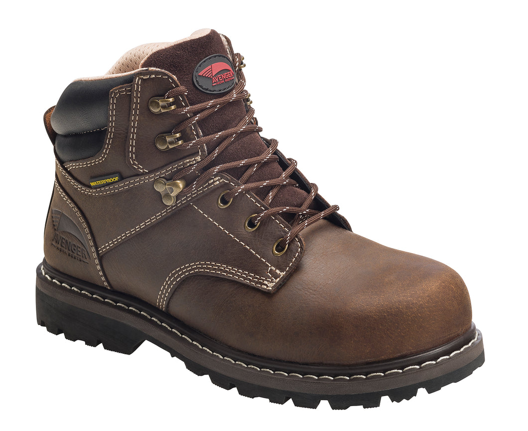 Saber Women's Brown Steel Toe EH PR WP 6