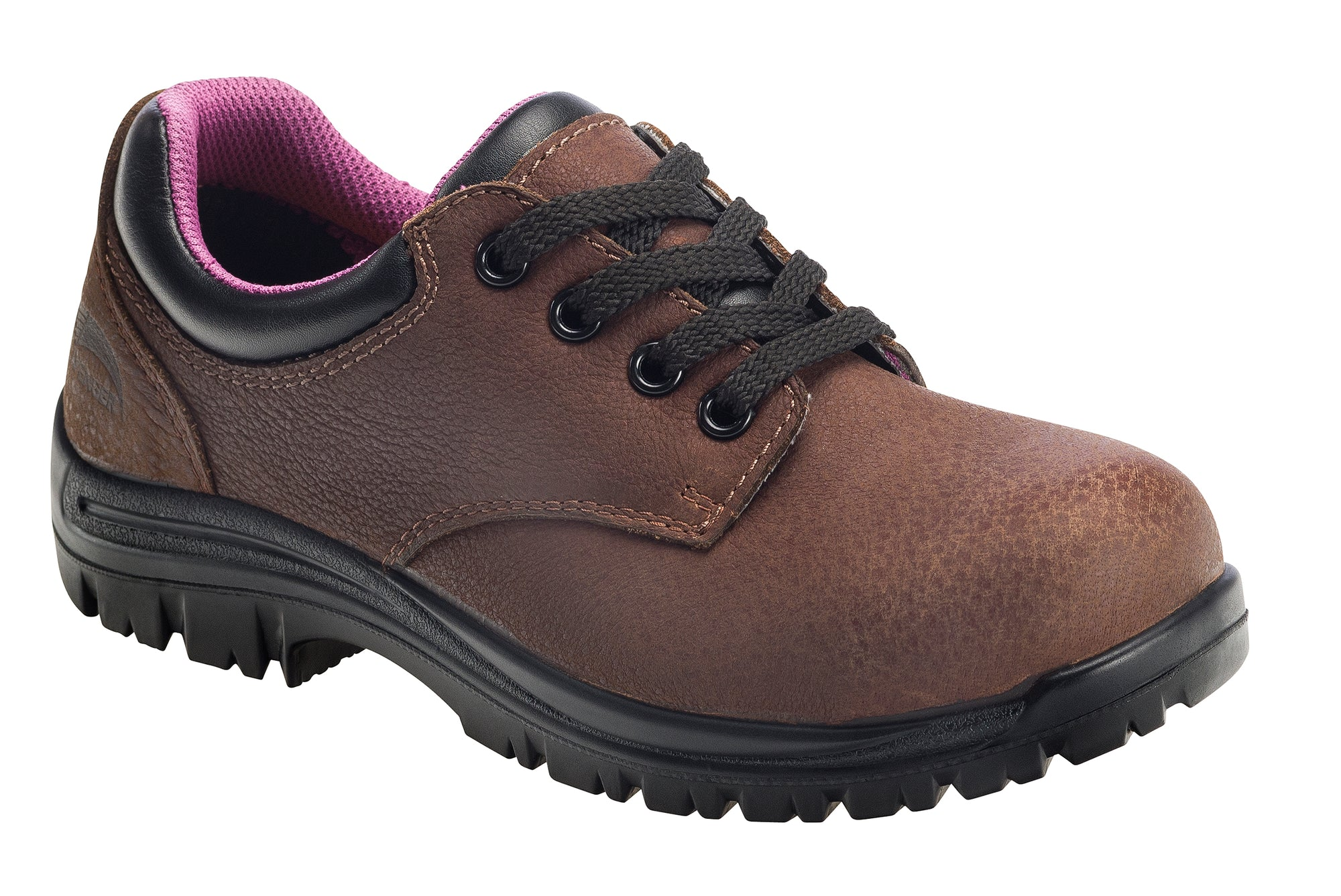 Women's Foreman Brown Composite Toe EH WP Oxford Work Shoe