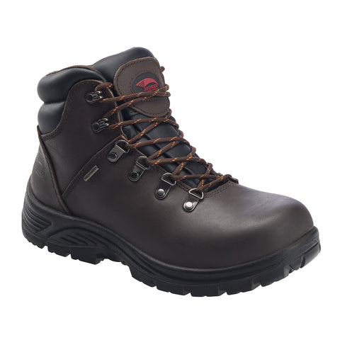 "6"" Leather Waterproof Slip Resistant EH Safety Toe Hiker"