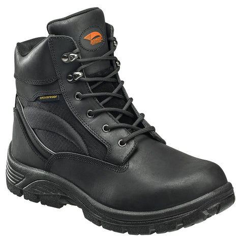 "6"" Leather and Cordura EH Waterproof Slip Resistant Safety Toe Work Boot"