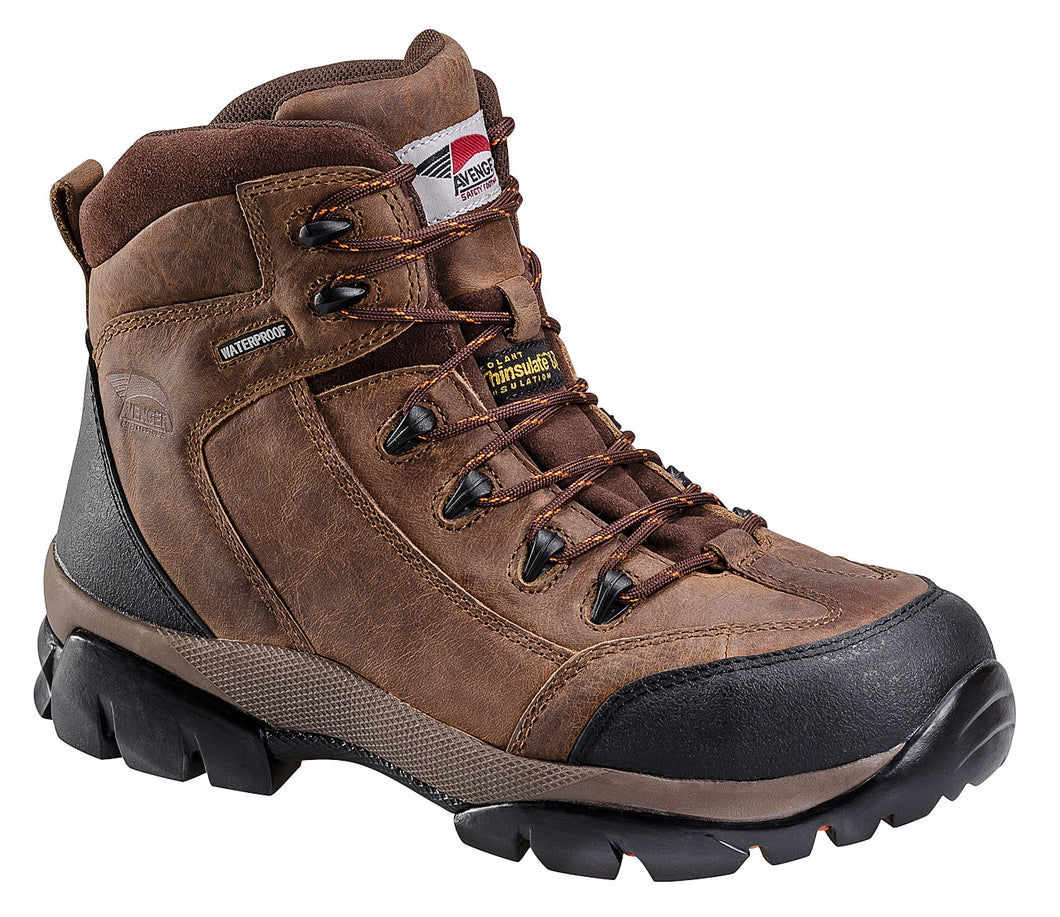 Insulated Leather Waterproof Comp Toe No Exposed Metal EH Work Boot