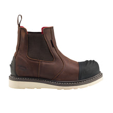 "Wedge Brown Carbon Toe EH WP 6"" Chelsea Work Boot"