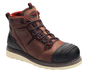 "6"" Leather Nanofiber Comp Toe Waterproof EH Wedge Boot"