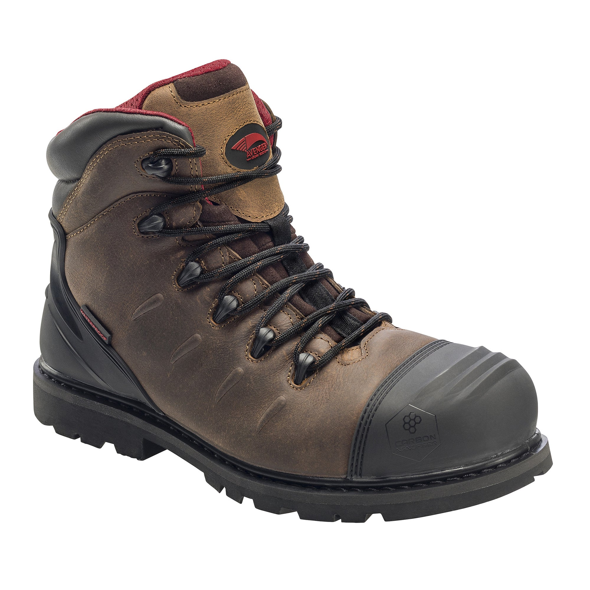 Leather Carbon Nanofiber Comp Toe Waterproof Puncture Resistant EH Slip Resistant Boot
