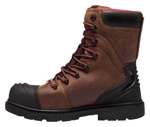 "Hammer Brown Carbon Toe WP PR 8"" Work Boot"