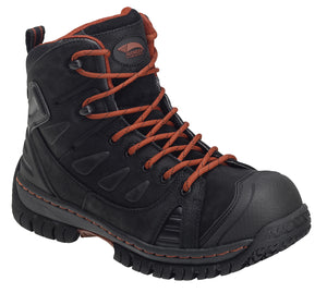 Waterproof Leather Safety Toe EH Hiker red laces
