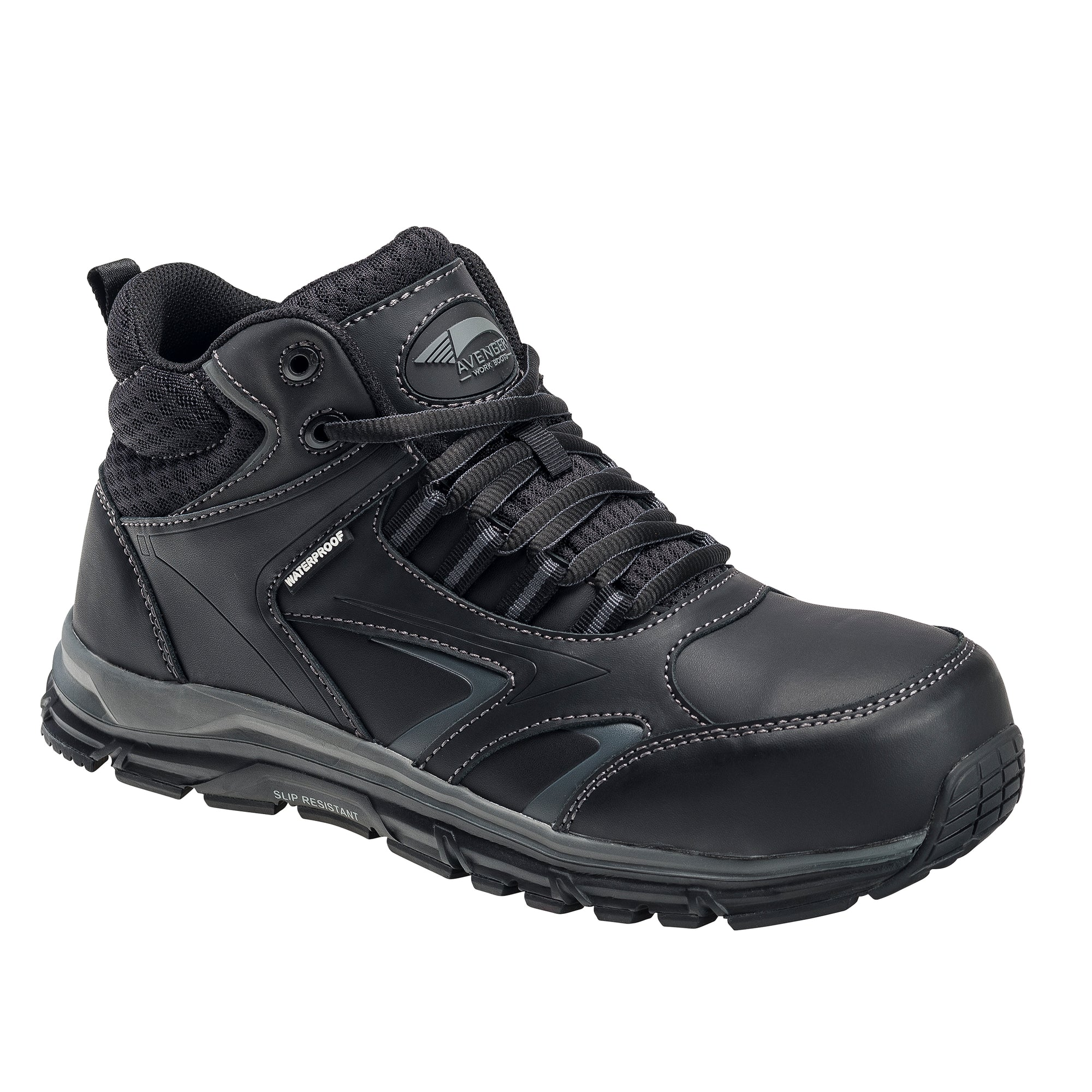 Thresher Black Alloy Toe EH WP Work Shoe