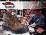 Leather Waterproof  Puncture Resistant High Heat EH Work Boot
