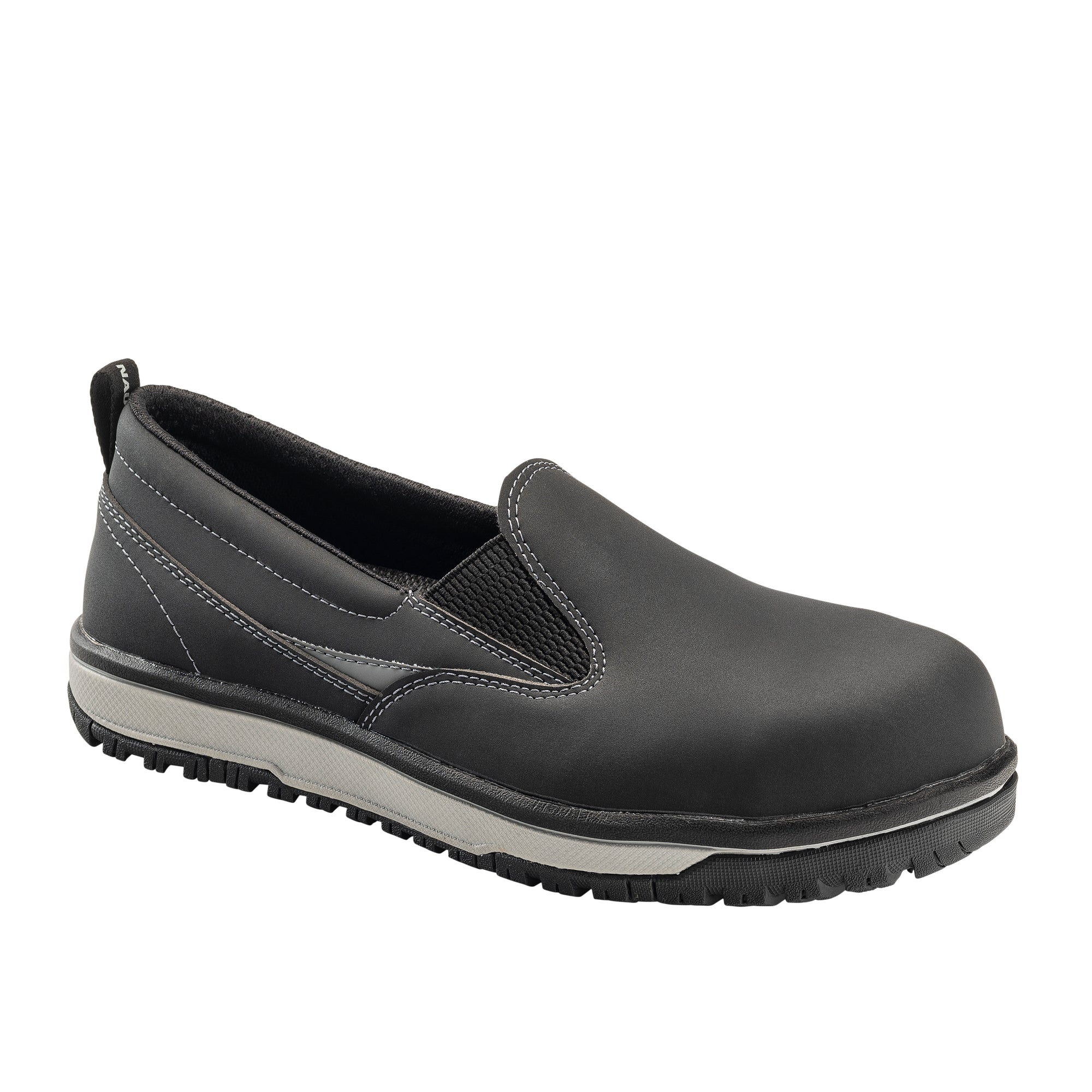 Urban Black Alloy Toe EH Slip On Work Shoe