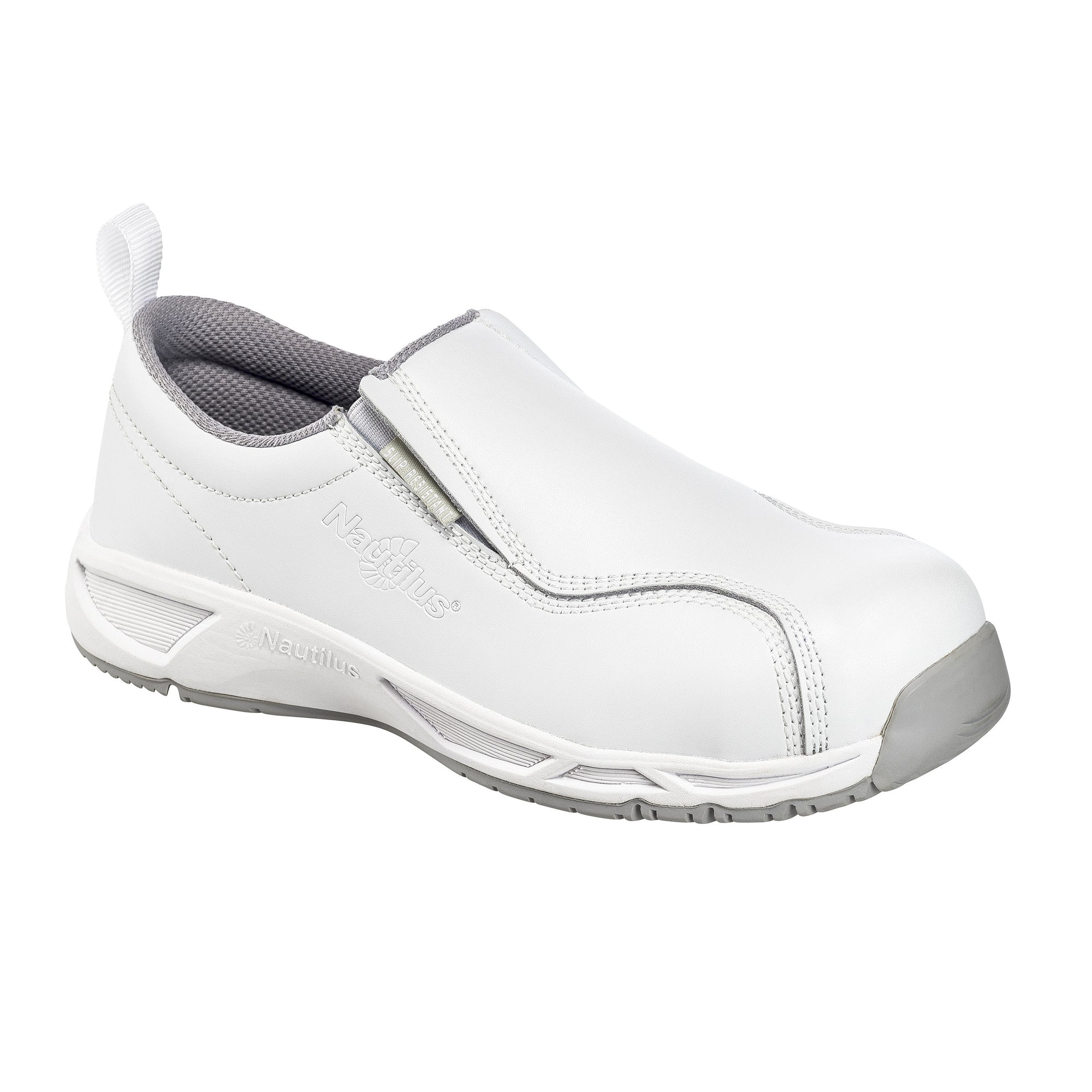 Women's Specialty ESD White Composite Toe SD10 Slip On Work Shoe