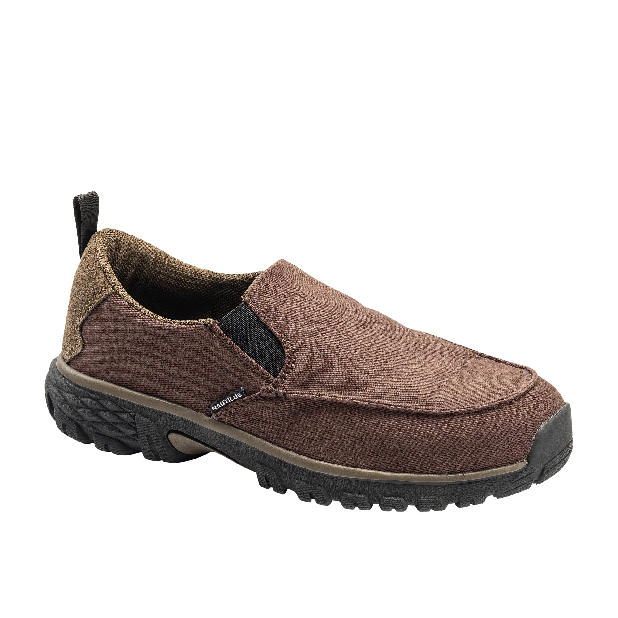 Breeze Brown Alloy Toe SD10 Slip-On Work Shoe