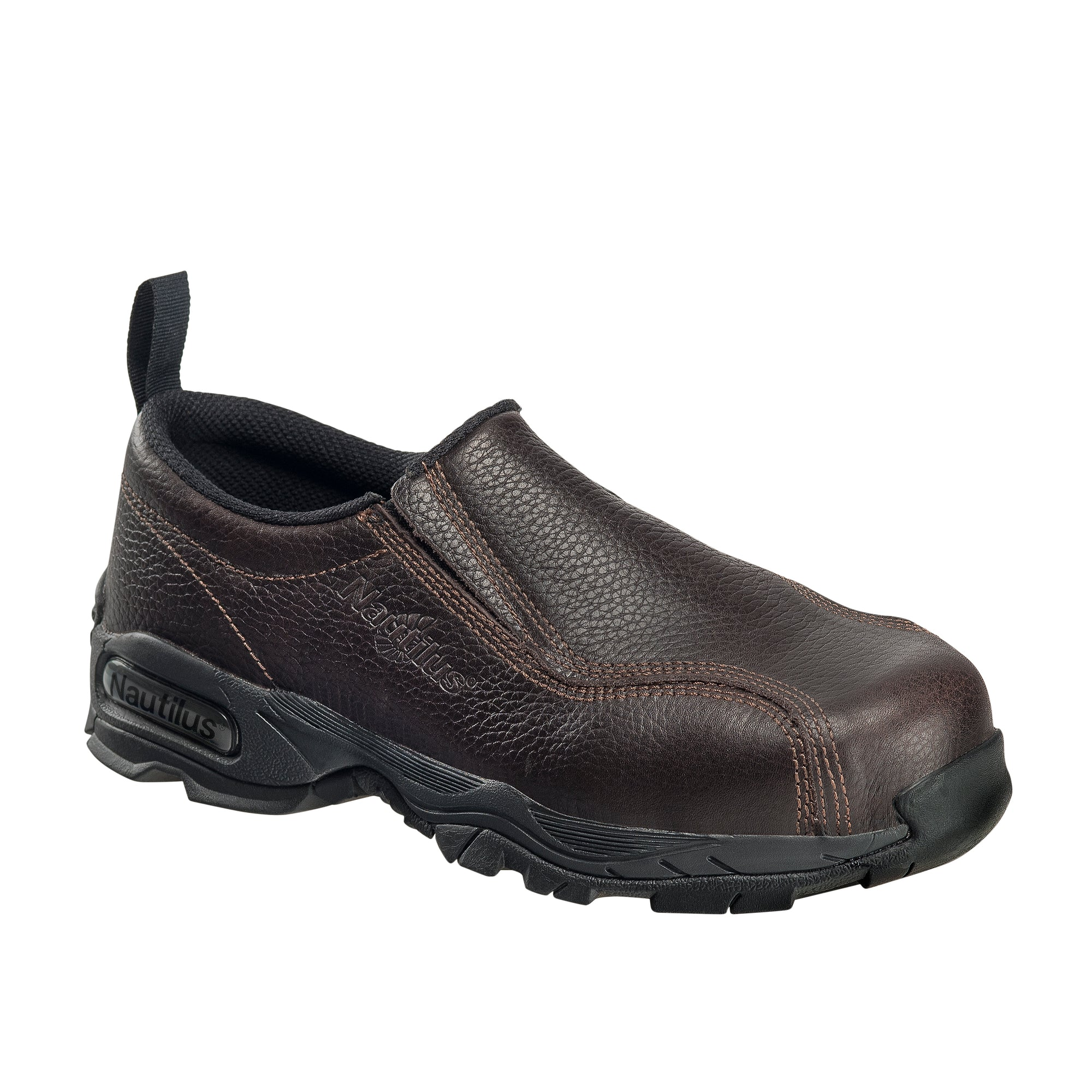 Brown Steel Toe SD10 Slip On Work Shoe