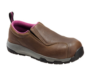 Women's Brown Carbon Toe SD10 Slip On Work Shoe
