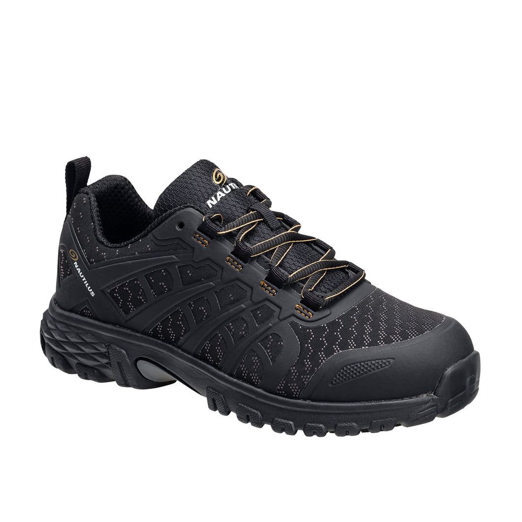 Women's Stratus Black Alloy Toe SD10 Athletic Work Shoe