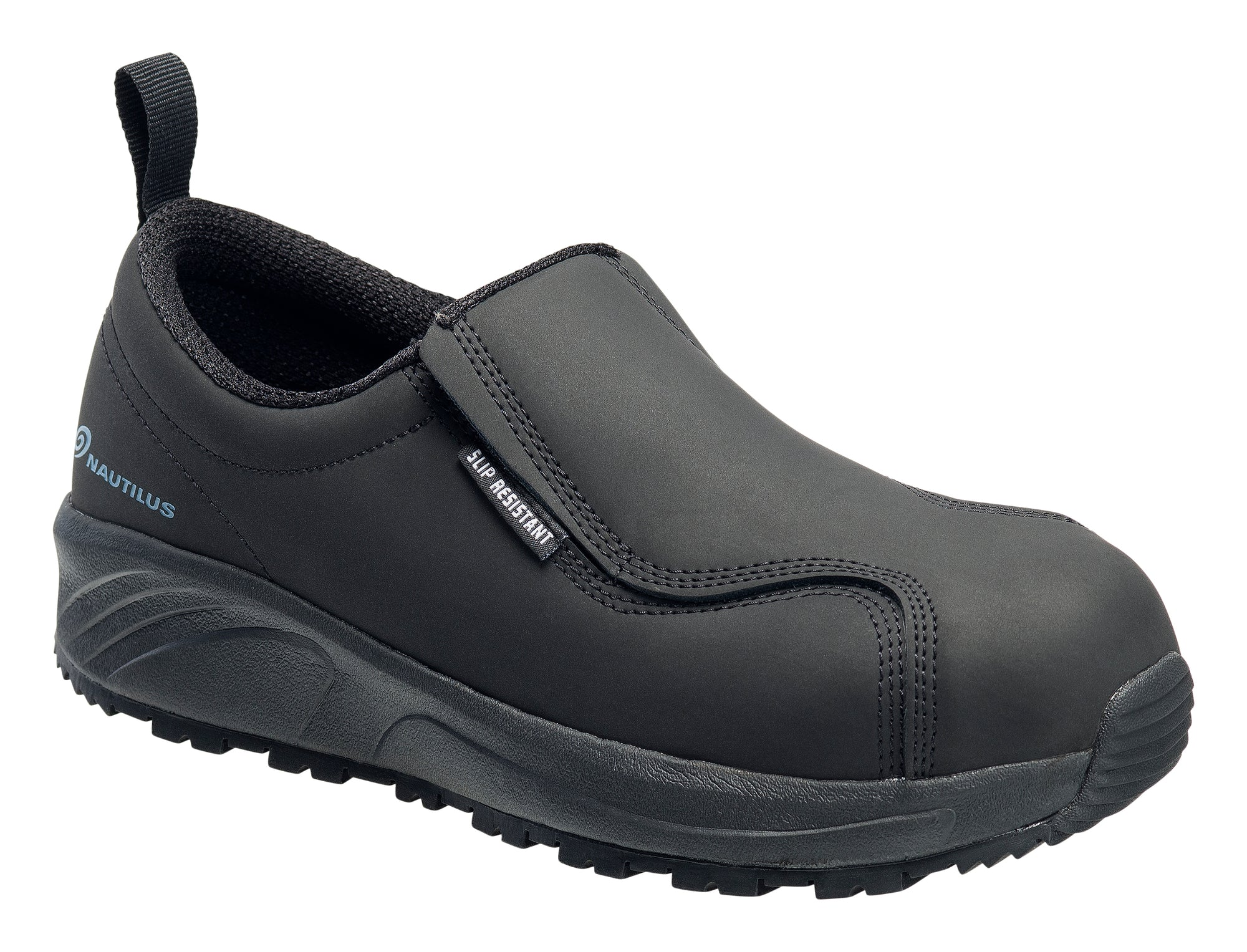 Guard Black Composite Toe EH Slip On Work Shoe
