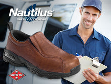 nautilus shoe and delivery man