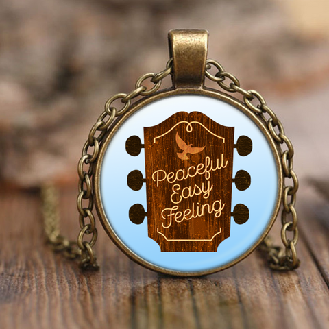Peaceful Easy Feeling Guitar Pendant Necklace
