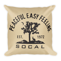 Peaceful Easy Feeling Cactus Pillow - Tan
