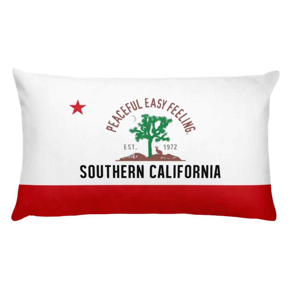 Peaceful Easy Feeling Flag Pillow