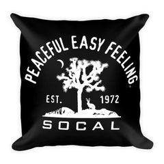 Peaceful Easy Feeling Cactus Pillow - Black