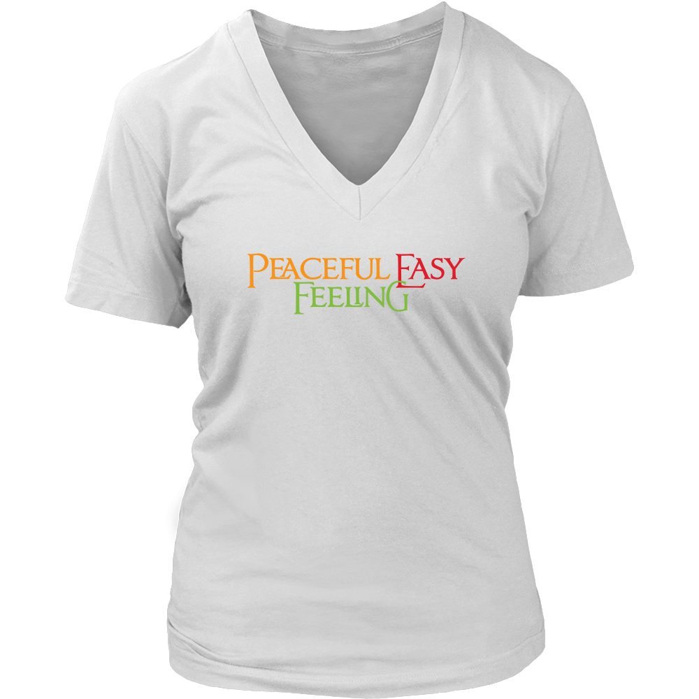 Peaceful Easy Feeling Womens V-Neck