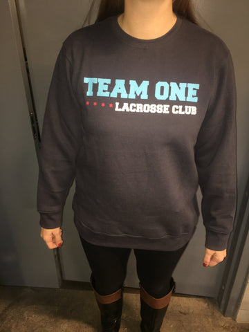 Team ONE Navy Crew Sweatshirt