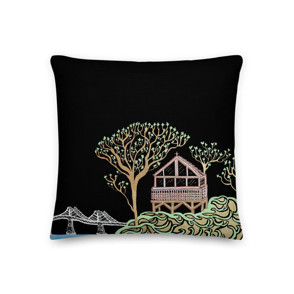 """Beach House"" Throw Pillow"