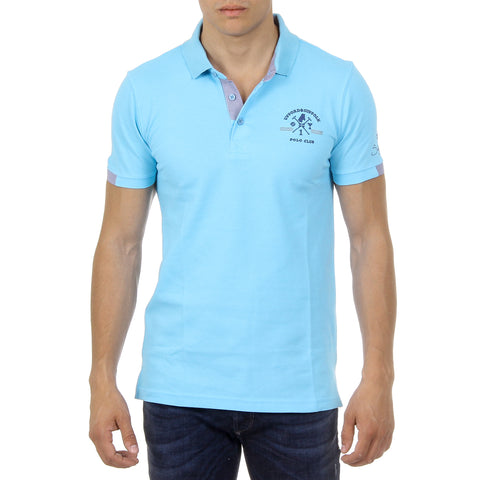 Ufford & Suffolk Polo Club Mens Polo Short Sleeves US025 BLUE
